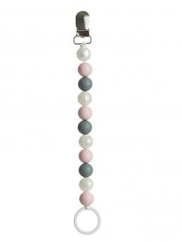 Pacifier holder (pearl-rosa-grey)
