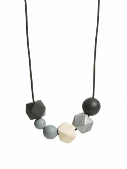 Nursing Necklace (pearl black-grey-ivory)