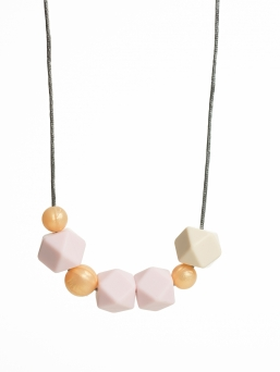 Nursing Necklace (pearl rosegold-rosa-ivory)