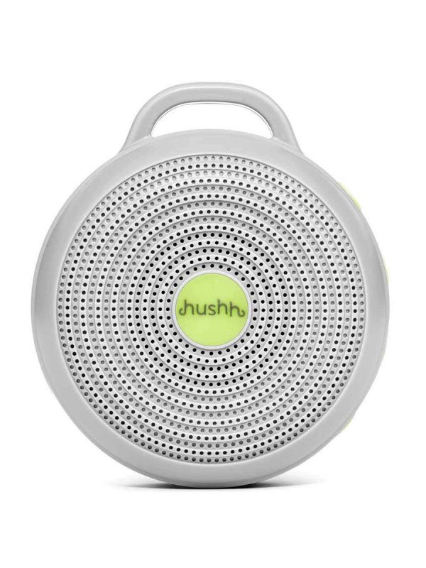 A white noise machine Hushh is a powerful tool in your infant sleep routine and helps baby fall asleep fast and minimizes sleep disruption from the outside world. Hushh creates a constant, soothing sound that helps lull your baby to sleep by mimicking the sound of the womb. Now you can take a familiar and comforting sleep sound with you wherever you go!