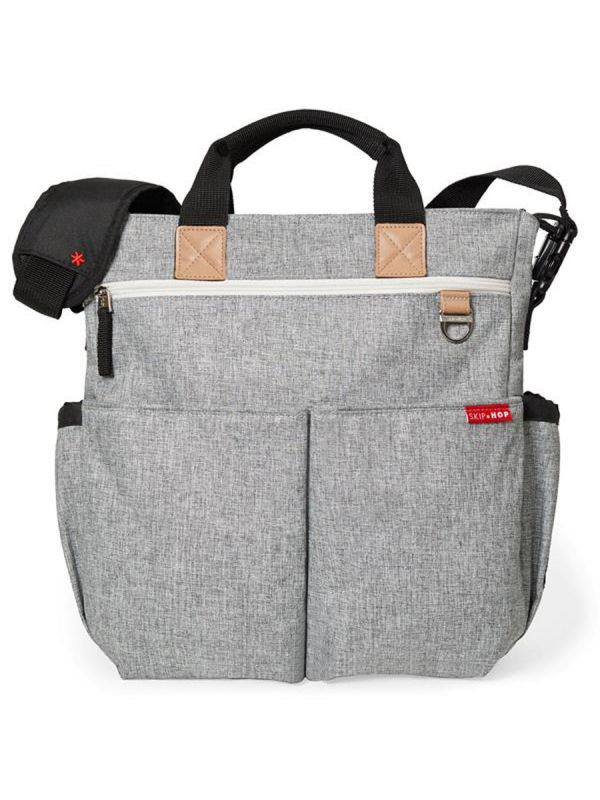 Duo Signature Grey Melange Diaper Bag takes your favorite diaper bag to the next level of functionality & style.