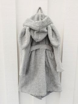 Super soft and luxurious Summerville bathrobe with adorable bunny ears.