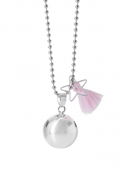 BOLA - harmony bola 18mm with tassel (baby pink)