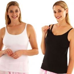 EMMA JANE Nursing top (black and white)