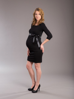 Maternity Dress with Black Belt