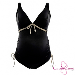 Maternity swimsuit Calypso (black) | CACHE COEUR