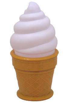 Ice Cream Night Light (white)