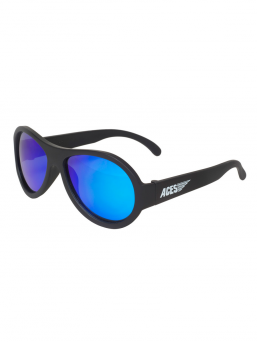 Babiators Aces sunglasses 6-14y (black with blue lenses)