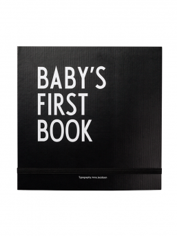 Design Letters Baby´s First Book babybook (black)