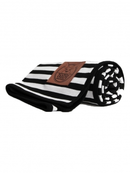 Crib Blanket for baby (black stripes) | BABY WALLABY