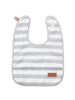 Baby Wallaby's stylish bib for baby. The bib is waterproof and soft. It is easy to wipe the food stains and it is wonderfully soft, so you can easily put it to your diaper bag. Bib is easy to attach with a velcro strap.