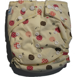 BABYLAND cloth diaper + microterry insert (apples)