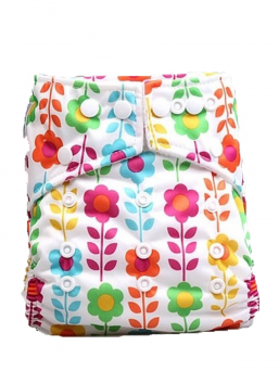 BABYLAND cloth diaper + microterry insert (flower)
