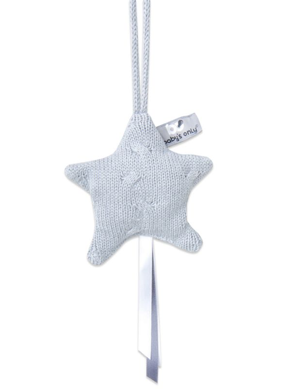 Baby's Only Decoration Star knitted star. Beautiful knitted star - a beautiful detail in the babyseat, baby's interior, play mat or trolleys. You can easily attach and detach the knitting star.