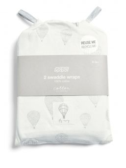 Mamas & Papas lovely light swaddles 0-3 months. 2-Pack.
