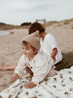 Rose In April multi-purpose, large-sized Muslin Blanket is perfect for babycare, nursing cover and even changing mat.