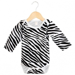 Baby Long Sleeve Bodysuit- ZEBRA