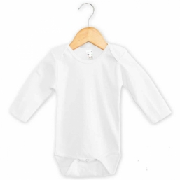 Baby Long Sleeve Bodysuit - WHITE