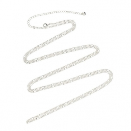 Silver plated necklace 140cm +10cm