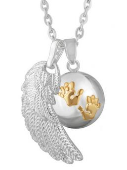 BOLA - silver handprint (gold) with wing