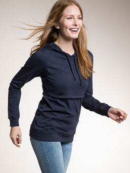 BOOB DESIGN B-warmer Hoodie with double function for pregnancy and nursing.