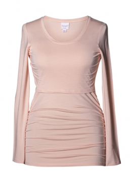 BOOB Maternity and Nursing longsleeve Ruched Top (pale blush)