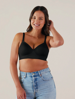 Bravado Plunge Nursing Bra is a sleek, structured, wire-free design and provides a smooth contour without compromising flexibility.