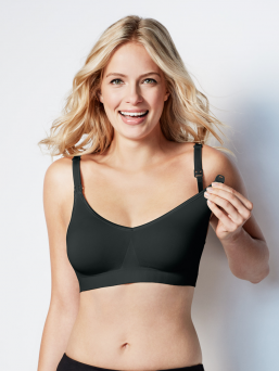 BRAVADO the body silk seamless nursing bra (black)