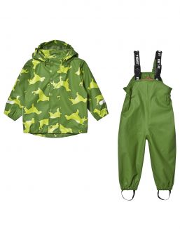 Ticket To Heaven rubber rain suit is a durable rubber rain suit.Rain suits all seams are welded, so the outfit is fully waterproof. The jacket has a detachable hood and reflective details.