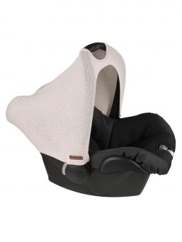Baby's Only car seat cover brings a luxury to a car seat appearance and protects the baby from ambient noise, the sun scorch and wind and snow.
