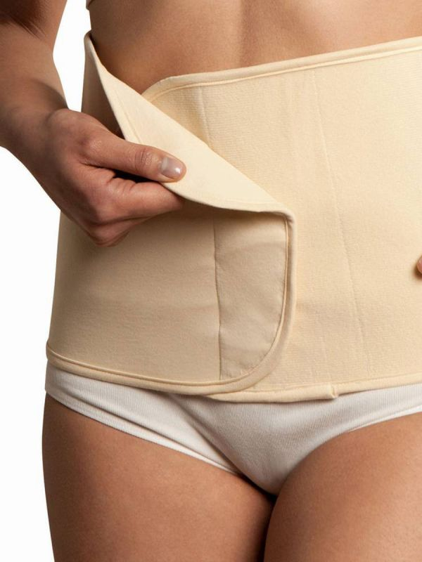 Adjustable Organic Cotton Belly Binder - Naturally encourages your stomach to return to its original shape.
