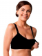 The Carriwell Seamless Nursing Bra is a soft and comfortable bra that moulds to your changing body shape. The easy one handed nursing clasps exposes the entire breast whilst nursing.