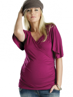 Maternity and nursing Cross over top (rasberry)