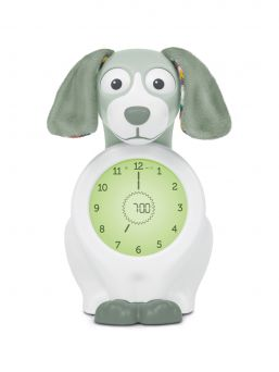 Makes time easy to understand for young children. A compact sleeptrainer, clock and nightlight Davy dog.