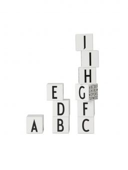 Stunning Design Letters wooden alphabet cubs teach kids letters and they are also a wonderful decorating element for a child's room.  Because of their small size, they fit perfectly into the child's hand, and when the play ends, the cubs can be pile on a shelf or on a cabinet.