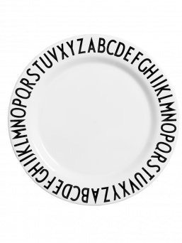 The Design Letters children's collection melamine plate is unbreakable and lightweight.