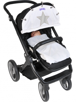 Dooky WINTER stroller cover (white star)
