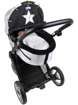 Dooky WINTER stroller cover (black star)