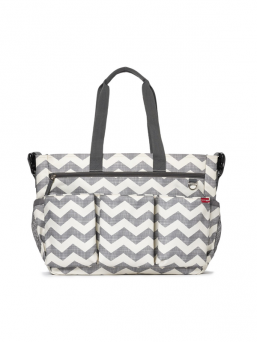 DUO DOUBLE Diaper Bag (Chevron)