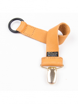 Soother clip Exclusive Collection (leather nude)