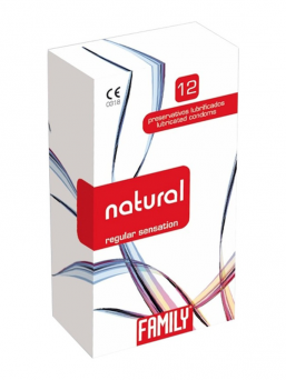 Family natural condom 12pcs (regular)