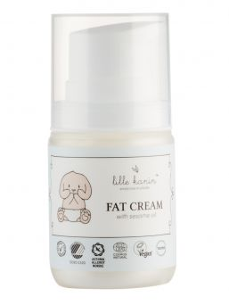 Lille Kanin Fat Cream is a thick cream with a lot of oils that prevent moisture from evaporating from the skin and thus prevent the skin from drying out.