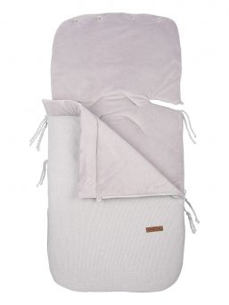 Baby's Only classic silver-grey Footmuff keep baby warm in car seats and baby carriages. Thanks to Footmuff the baby does not need to undress and dress up constantly, the baby stays warm embrace of the bag.