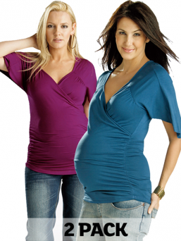 Maternity and nursing Cross over top 2pack