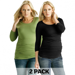 Maternity Ruched Top 2pack