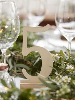 Stunning and stylish Ginger Ray wooden numbers for baby shots or birthday parties.