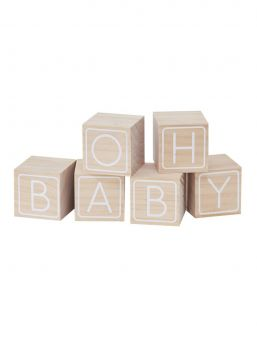Oh Baby! Baby wooden blocks. Family and friends will love writing on these - leaving messages for the gorgeous mummy to be, a keepsake that will last forever.
