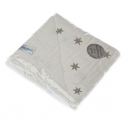 SNUTTEN Burp cloth 3+3pcs (grey stars)