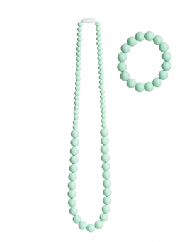 Nursing Necklace and bracelet (mint)