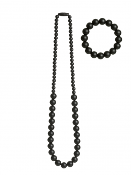 Nursing Necklace and bracelet (black)